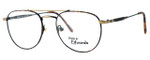 Regency International Designer Eyeglasses Geoffrey Antique & Gold Tortoise 53mm :: Custom Left & Right Lens