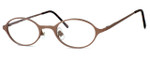 Regency International Designer Eyeglasses Mill 001 in Matte Brown 46mm :: Progressive