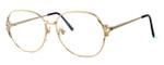 Fashion Optical Designer Eyeglasses E1013 in Gold Pink 57mm :: Rx Bi-Focal