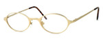 Regency International Designer Reading Glasses Mill 001 in Matte Gold 46mm