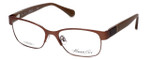 Kenneth Cole Designer Eyeglasses KC0214-046 in Brown :: Custom Left & Right Lens