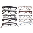 Mens Designer Reading Glasses Variety Pack :: BRONZE