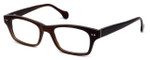 Calabria Elite Designer Eyeglasses CEBH118 in Brown Horn :: Rx Single Vision