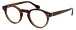 Calabria Elite Designer Eyeglasses CEBH122 in Brown Horn :: Rx Single Vision