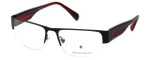 Argyleculture Designer Eyeglasses Rollins in Black-Red :: Rx Bi-Focal