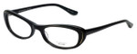 Oliver Peoples Designer Eyeglasses Margriet BK in Black 50mm :: Custom Left & Right Lens