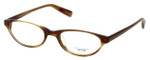 Oliver Peoples Designer Eyeglasses Mia ST in Brown Horn 47mm :: Custom Left & Right Lens