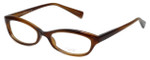 Oliver Peoples Designer Eyeglasses Marceau SYC in Brown Horn 51mm :: Rx Single Vision