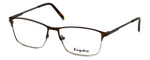 Esquire Designer Eyeglasses EQ1522 in Brown 55mm :: Custom Left & Right Lens