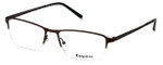 Esquire Designer Eyeglasses EQ1520 in Satin-Brown 54mm :: Rx Single Vision