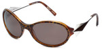 BOZ Designer Sunglasses New Day 9515 in Cheetah Print Frame & Brown Lens 60mm
