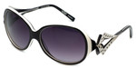 Boz Designer Sunglasses Oxford 0010 in Black White Frame & Violet Gradient Lens 59mm