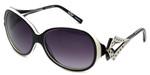 Boz Designer Sunglasses Oxford 0010 in Black White Frame & Violet Gradient Lens 59mm