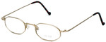 Regency Designer Eyeglasses SL510 in Matte-Gold 46mm :: Custom Left & Right Lens