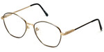 Regency Designer Eyeglasses Yale in Gold-Black 52mm :: Custom Left & Right Lens