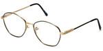 Regency Designer Eyeglasses Yale in Gold-Black 52mm :: Custom Left & Right Lens