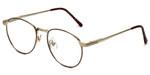 Fashion Optical Designer Eyeglasses E788 in Gold-Burgundy 48mm :: Rx Single Vision