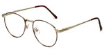 Fashion Optical Designer Eyeglasses E788 in Gold-Burgundy 48mm :: Rx Bi-Focal