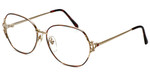 Fashion Optical Designer Eyeglasses E1013 in Gold-Demi-Amber 57mm :: Rx Bi-Focal