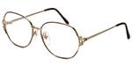 Fashion Optical Designer Eyeglasses E1013 in Gold-Demi-Amber 57mm :: Rx Bi-Focal