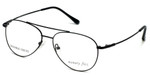 Silver Dollar Designer Eyeglasses Gunnison in Satin Black 56mm :: Rx Single Vision