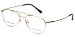 Silver Dollar Designer Eyeglasses Gunnison in Gold 54mm :: Rx Single Vision