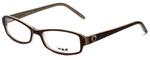 Silver Dollar Designer Eyeglasses Portia in Brown 50mm :: Rx Single Vision