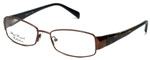 Silver Dollar Designer Eyeglasses Fawn in Nutmeg 53mm :: Progressive