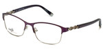 Silver Dollar Designer Reading Glasses CB1013 in Amethyst 52mm