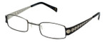 Cinzia Designer Eyeglasses Industrial C1 in Black Silver 44mm :: Custom Left & Right Lens