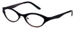 Cinzia Designer Eyeglasses Jitterbug C3 in Black Wine 46mm :: Custom Left & Right Lens