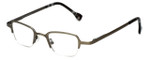 Cinzia Designer Eyeglasses Fine Print 02 in Gunmetal 44mm :: Rx Single Vision