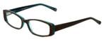 Cinzia Designer Eyeglasses Chisel C1 in Khaki Teal 52mm :: Progressive