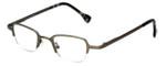 Cinzia Designer Eyeglasses Fine Print 02 in Gunmetal 44mm :: Rx Bi Focal