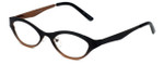 Cinzia Designer Reading Glasses Jitterbug C1 in Black Bronze 46mm