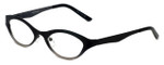 Cinzia Designer Reading Glasses Jitterbug C2 in Black Gunmetal 46mm