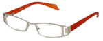 Cinzia Designer Eyeglasses Trendies Freeze C1 in Silver Orange 46mm :: Rx Bi Focal