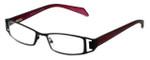 Cinzia Designer Eyeglasses Trendies Freeze C3 in Black Wine 46mm :: Rx Bi Focal
