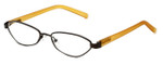 Cinzia Designer Reading Glasses Trendies Chilly C3 in Bronze Mustard 50mm