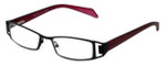 Cinzia Designer Reading Glasses Trendies Freeze C3 in Black Wine 46mm
