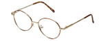Flex Collection Designer Eyeglasses FL-37 in Gold-Demi-Brown 46mm :: Custom Left & Right Lens
