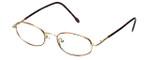 FlexPlus Collection Designer Eyeglasses Model 86 in Gold-Demi-Amber 48mm :: Custom Left & Right Lens