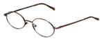 MetalFlex Designer Eyeglasses Model S in Ant-Brown 48mm :: Custom Left & Right Lens