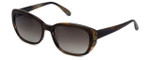 Vera Wang Designer Sunglasses Nevela in Arizona Tortoise Frame & Brown Gradient Lens 55mm