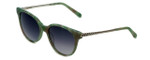 Vera Wang Designer Sunglasses Serova in Green Frame & Grey Gradient Lens 53mm