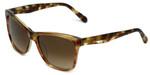 Vera Wang Designer Sunglasses V419 in Brown Frame & Brown Gradient Lens 55mm