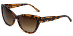 Vera Wang Designer Sunglasses V433 in Kyoto Tortoise Frame & Brown Gradient Lens 57mm