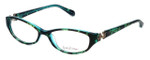 Lilly Pulitzer Designer Eyeglasses Kolby in Tortoise-Aqua 51mm :: Rx Single Vision