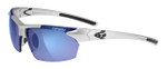Tifosi High Performance Sunglasses Jet in Metallic-Silver & Smoke Blue Lens