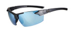 Tifosi High Performance Sunglasses Jet FC in Matte-Gunmetal & Smoke Bright Blue Lens